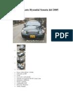 Venta de Auto Hyundai Sonata Del 2005