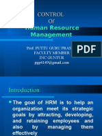 Control of Human Resource Mangement 2