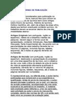NORMAS DE PUBLICAÇÃO - QUÍMICA NOVA