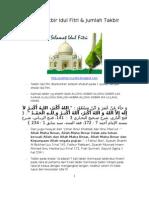 Hadits2 Takbir Idul Fitri Shalat Id