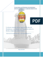 Ingresos Fiscales Honduras-Sistema rio Nacional_oziel Fernandez_herrera