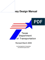 TXDOT Roadway Design Manual