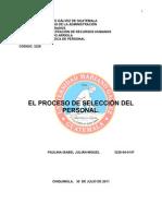 EL PROCESO DE SELECCIÓN DE PERSONAL I.