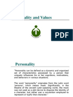 Personality and Values