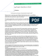 CBCP Pastoral Letter to Young People