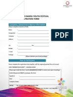 Johor Bahru Youth Festival Booth Form