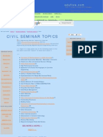 Civil Engineering Seminar Topics, Latest