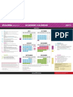 2011 Calendar Sem2