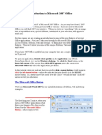 Introduction to Microsoft 2007 Office