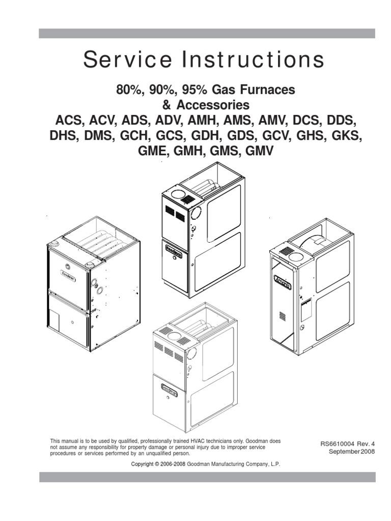 amana furnace service instructions rs6610004r4 com furnace hvac rh scribd com electric furnace wiring diagram carrier electric furnace wiring diagram