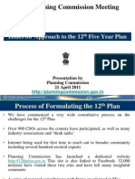 Planning Commission on Twelth Five year plan
