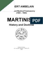 Martinism History and Doctrine - Robert Ambelain