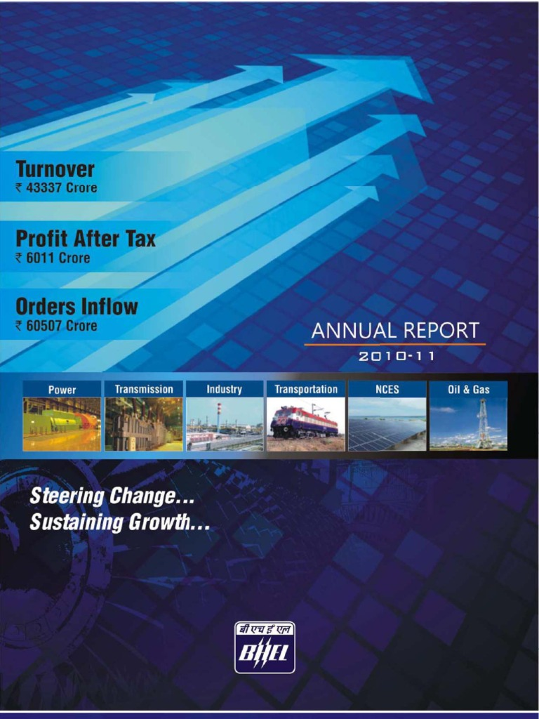 BHEL Annual Report 2010-11   Dividend   Corporate Social Responsibility