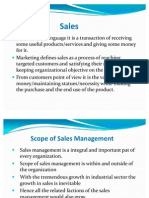Scope of Sales Management