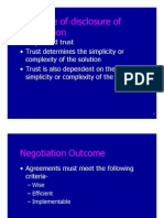 Interpersonal Negotiation