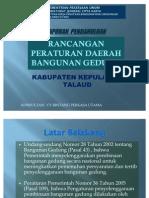 Present Lap Pendahuluan Ranperda BG Talaud