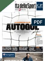 Gazzetta dello sport del 27 agosto 2011