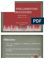 Basic Parliamentary Procedures