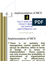 implmentation of mcs