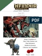 Pathfinder Checklist