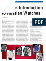 A Quick Introduction to Russian Watches