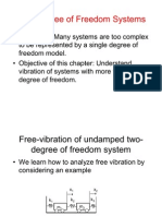 Multi Degree Freedom Systems