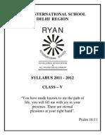 Class-5_Syllabus_2011-2012_