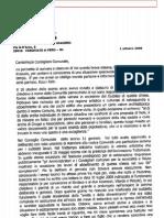 Lettera Don Claudio