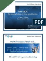 G&D Vedder UICC Security Platform for Value Added Services