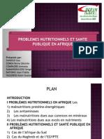 Expose Problemes Nutritionnelsen Afrique