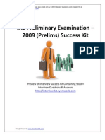 IAS Prelims 2009 Success Kit