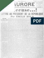 ZOLA, Émile - J'Accuse...! (1898)