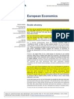 Ekonomika v Evropě je na začátku období velmi slabého růstu (dokument v AJ)