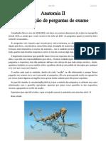 Compilação de perguntas de exame - Anatomia II