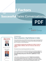 7 Critical Factors for Successful Sales Conversations