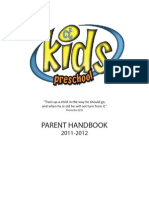 CTPreschool Parent Handbook 2011