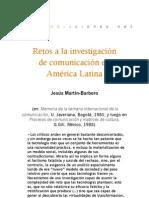 Retos a la investigación en comunicación en América Latina
