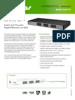 Catálogo_SG 2400 QR - Switch rack 24 portas Gigabit Ethernet com QoS_Português