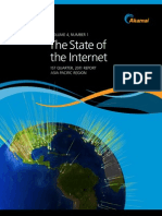 """The State of the Internet"". Primer trimestre de 2011 (Akamai) Ag11"