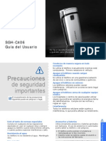 Instrucciones Celular Samsung SHG C406