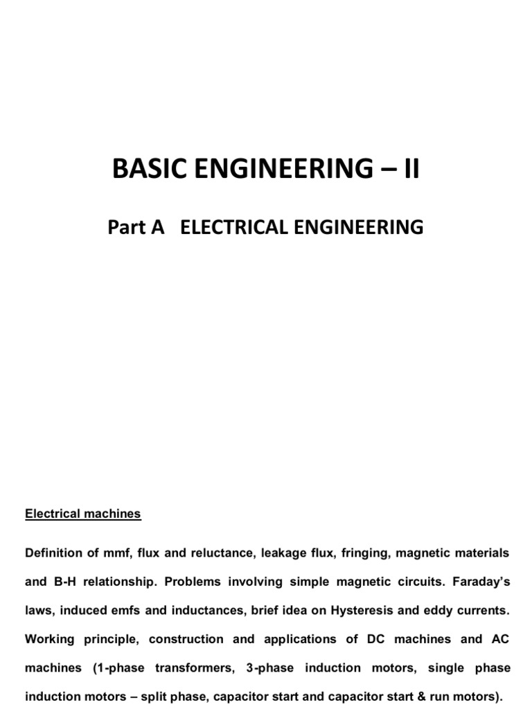 Ge 0106 Basic Engineering Ii Transformer Series And Parallel How Does A Capacitor Start Motor Work Circuits