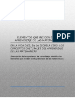 Elementos Que Inciden en El Aprendizaje de Las as (Copia).Doc as y Educacion Indigena i 6o Semestre Upn