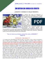 MANIFESTO EM DEFESA DA IGREJA DE CRISTO