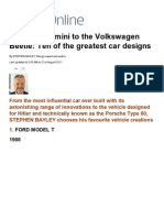 Mini to Volkswagen Beetle_ 10 Best Car Designs _ Mail Online