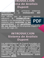 Sistema de análisis DuPont - EXPOSICION
