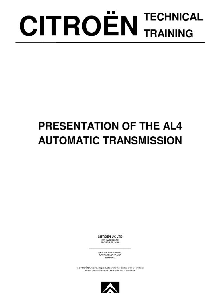 al4 transmission automatic transmission transmission mechanics rh es scribd com Manual Transmission Diagram 7 Speed Manual Transmission