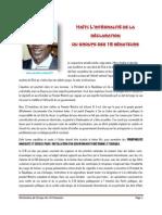 Declaration du Groupe des 16 Sénateurs - 26 aout 2011