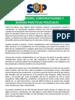 Compañerismo, corporativismo y buenas prácticas policiales