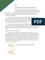 Casereport-Modified Radical Mastectomy
