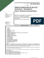 norma_desempenho 060506 parte 6 Sistemas Hidrossanitários